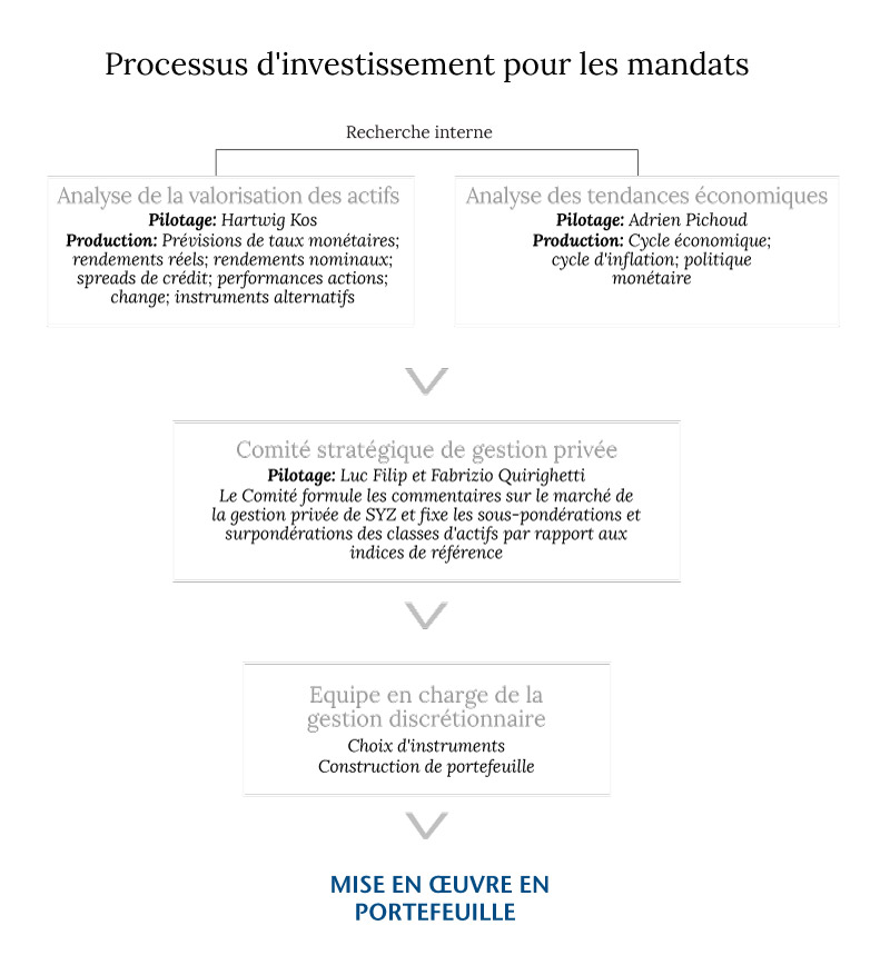 Investment process for mandates